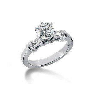1.85 ct. diamonds anniversary ring 3 stone gold ri